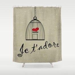 Je t'adore Shower Curtain
