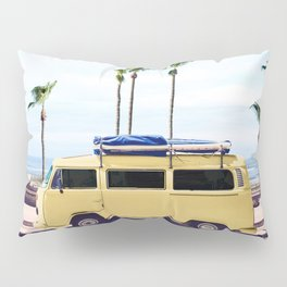 Surfer's Yellow Van Pillow Sham