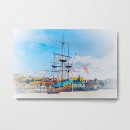 HMS Endeavour  Metal Print