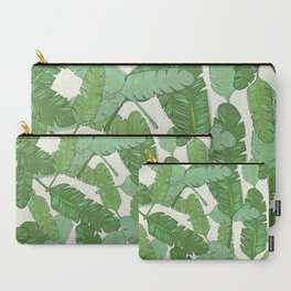 Banana Leaf Print Carry-All Pouch