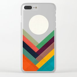 Rows of valleys Clear iPhone Case