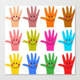 Happy Hands Canvas Print