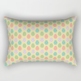 Easter Eggs Yellow Background Rectangular Pillow