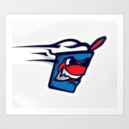 Nicholasville Blizzards Logo Art Print