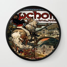 Vintage poster - Luchon Wall Clock