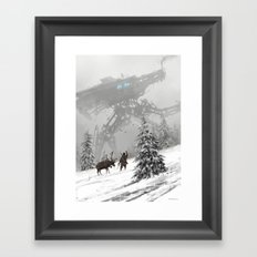 1920 - winter walker Framed Art Print