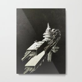 An Homage to 1980's Starships Metal Print