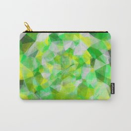 geometric polygon abstract pattern in green and yellow Carry-All Pouch