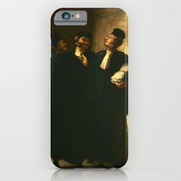 """Honoré Daumier """"Three Lawyers"""" iPhone Case"""