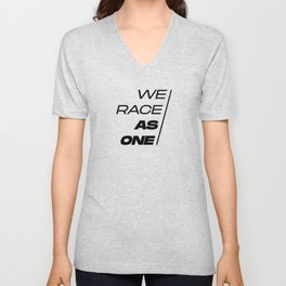 Race As One Textured Yellow Unisex V-Neck