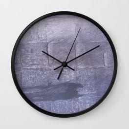 Dark blue gray Wall Clock