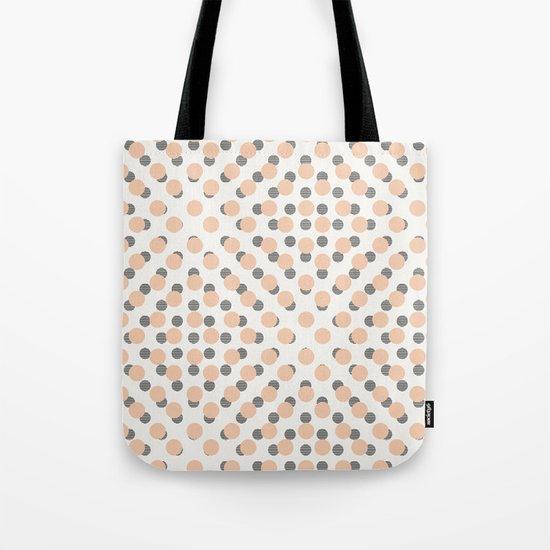 Black & Pink Polka Dots Tote Bag