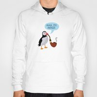 puffin Hoodies featuring puffin' by Christopher