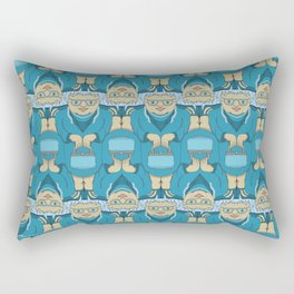 Blue Rinse with Handbag Tessellation Rectangular Pillow
