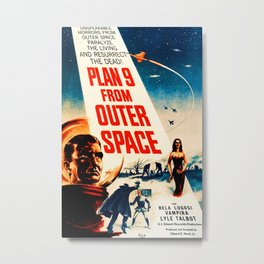 Plan 9 from Outer Space, vintage movie poster Metal Print