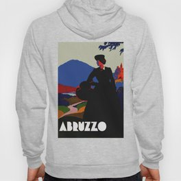 Vintage Abruzzo Italy Travel Poster Hoody