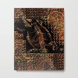 Bearded Dragon Pattern Metal Print