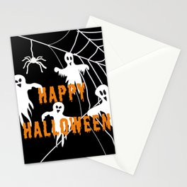 Monsters Happy Halloween Stationery Cards