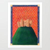 federico babina Art Prints featuring Castel del Monte - L'Epoca di Federico II by Francesca Cosanti