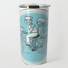 to the beach Travel Mug