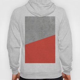 Concrete and Cherry Tomato Color Hoody