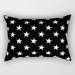 Little Stars (White & Black Pattern) Rectangular Pillow