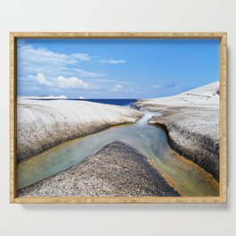 Confluence on pumice beach Serving Tray