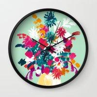 blush Wall Clocks featuring Blush by Picomodi