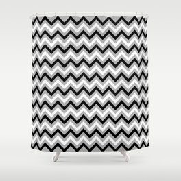 Chevron Pattern - black and grey - more colors Shower Curtain