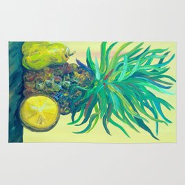 Pear and Pineapple Rug