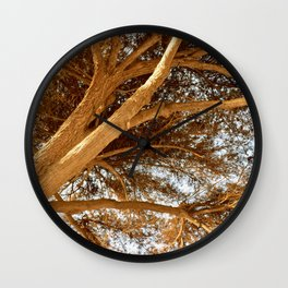 mama dipped in gold Wall Clock