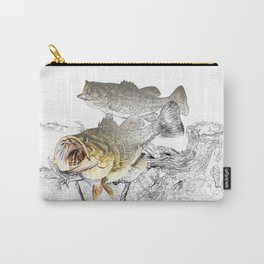 Largemouth Black Bass Fishing Art Carry-All Pouch