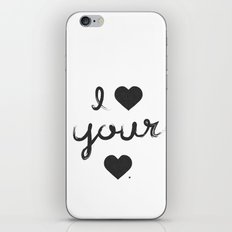 i heart your heart iPhone & iPod Skin