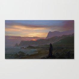on the coast Canvas Print