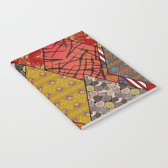 Rustic . Patchwork . Notebook