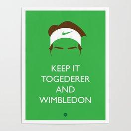 Roger Federer: Keep Calm Poster