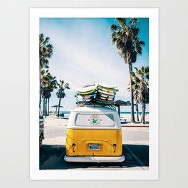 Surfing van Art Print