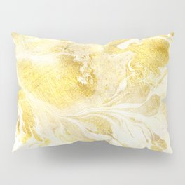 Golden Marble Abstract Pillow Sham