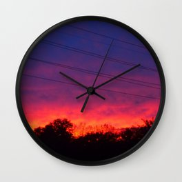Ombre Sunset Wall Clock