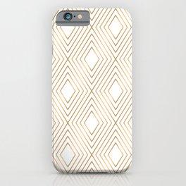 Elegant Geometric Gold Pattern Illustration iPhone Case