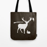 hunter Tote Bags featuring Hunter by Julia Brnv