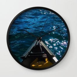 Canoeing Wall Clock