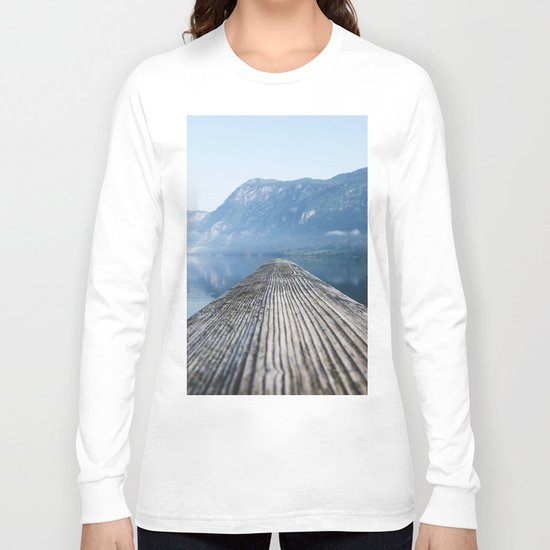 Dock # mountains #nature Long Sleeve T-shirt
