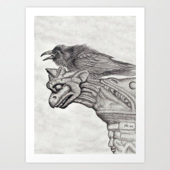 A Ravens Perch Art Print