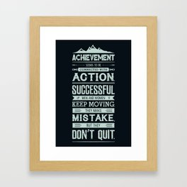 Lab No. 4 Achievement Seems To Be Conrad Hilton Inspirational Quotes Poster Framed Art Print