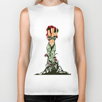 poison ivy Biker Tanks featuring Poison Ivy by Ayse Deniz