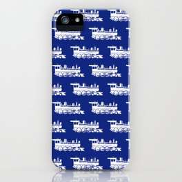 Steam Locomotives // Blue iPhone Case