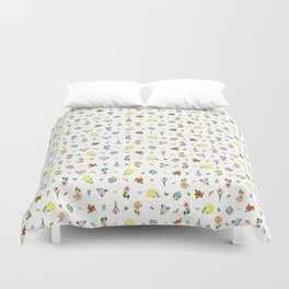 Flowers and More Flowers Duvet Cover