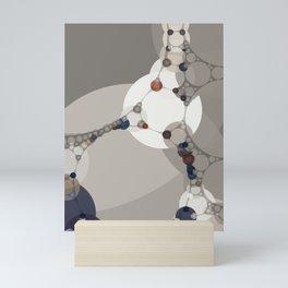 sarah - midtone abstract subdued colour taupe white tan purple Mini Art Print