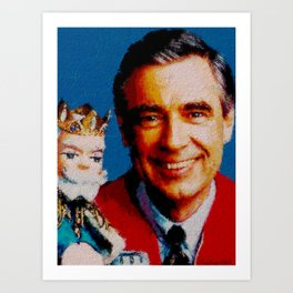 Mr. Rogers & King Friday Art Print